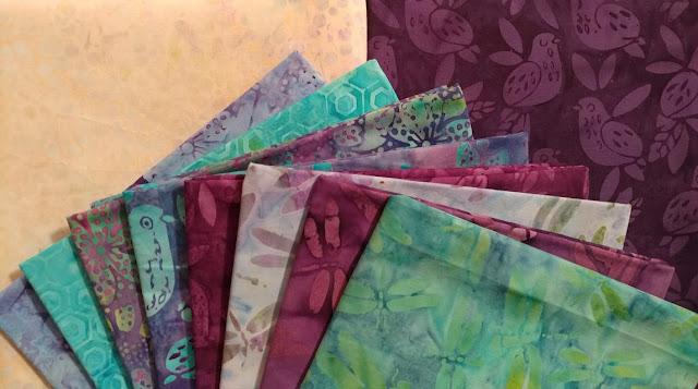 Lavendula fabrics by Island Batik