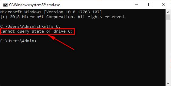 Kiểm tra xem Windows đã tắt Check Disk chưa