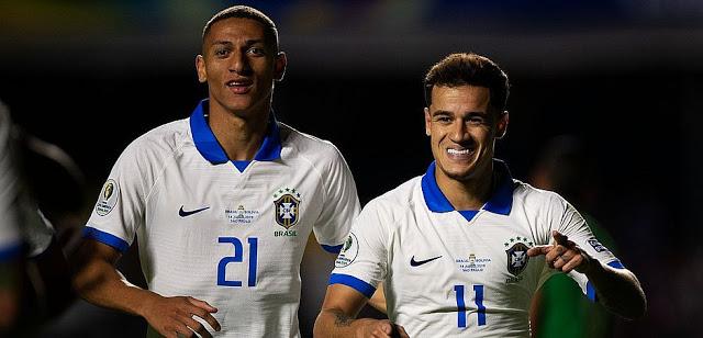 Brasil vence a Bolívia por 3x0 na abertura da Copa América