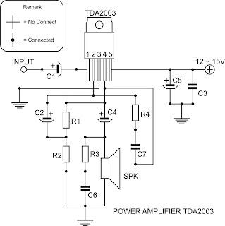Free schematic: Amplifier 10 watt Schematic