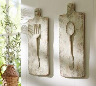 Artesanatos feitos com talheres antigos