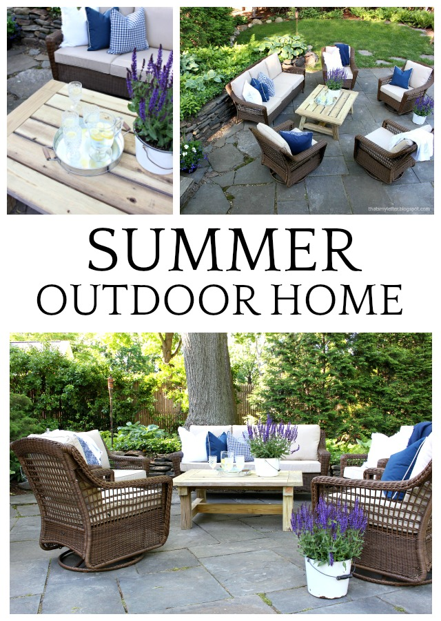 summer outdoor home patio space