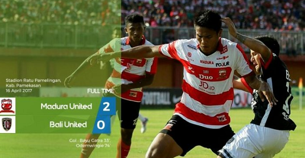 Madura United Memang 2-0 atas Bali United, Peter Odemwingie Cetak Gol