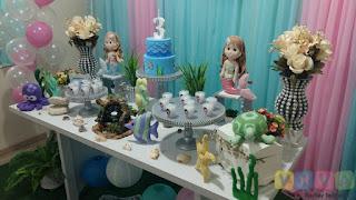 Decoração festa infantil Sereias