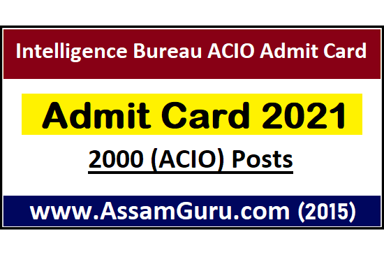 intelligence-bureau-acio-admit-card-2021