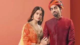 Ayushmann Khurrana and Aalia Bhatt in an advertisment