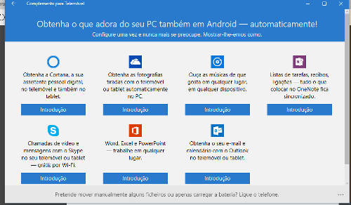 aplicativos windows 10 para android