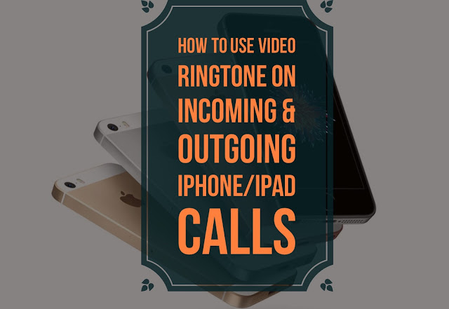 Have you ever wanted to use a video ringtone on your iPhone/iPad for incoming and outgoing calls ? As we know all know Apple doesn't have an option for video ringtones rather than ringing tones by default
