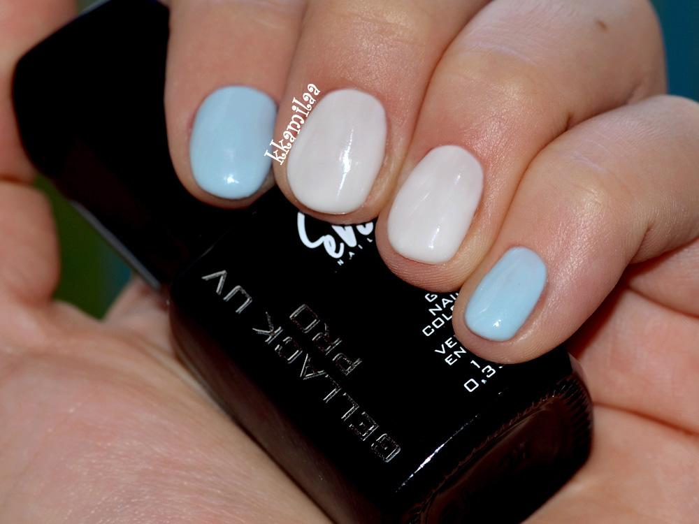 Evo Gellack UV Pro nr 151 - Marshmallow oraz Evo Gellack UV Pro nr 192 - Cool White