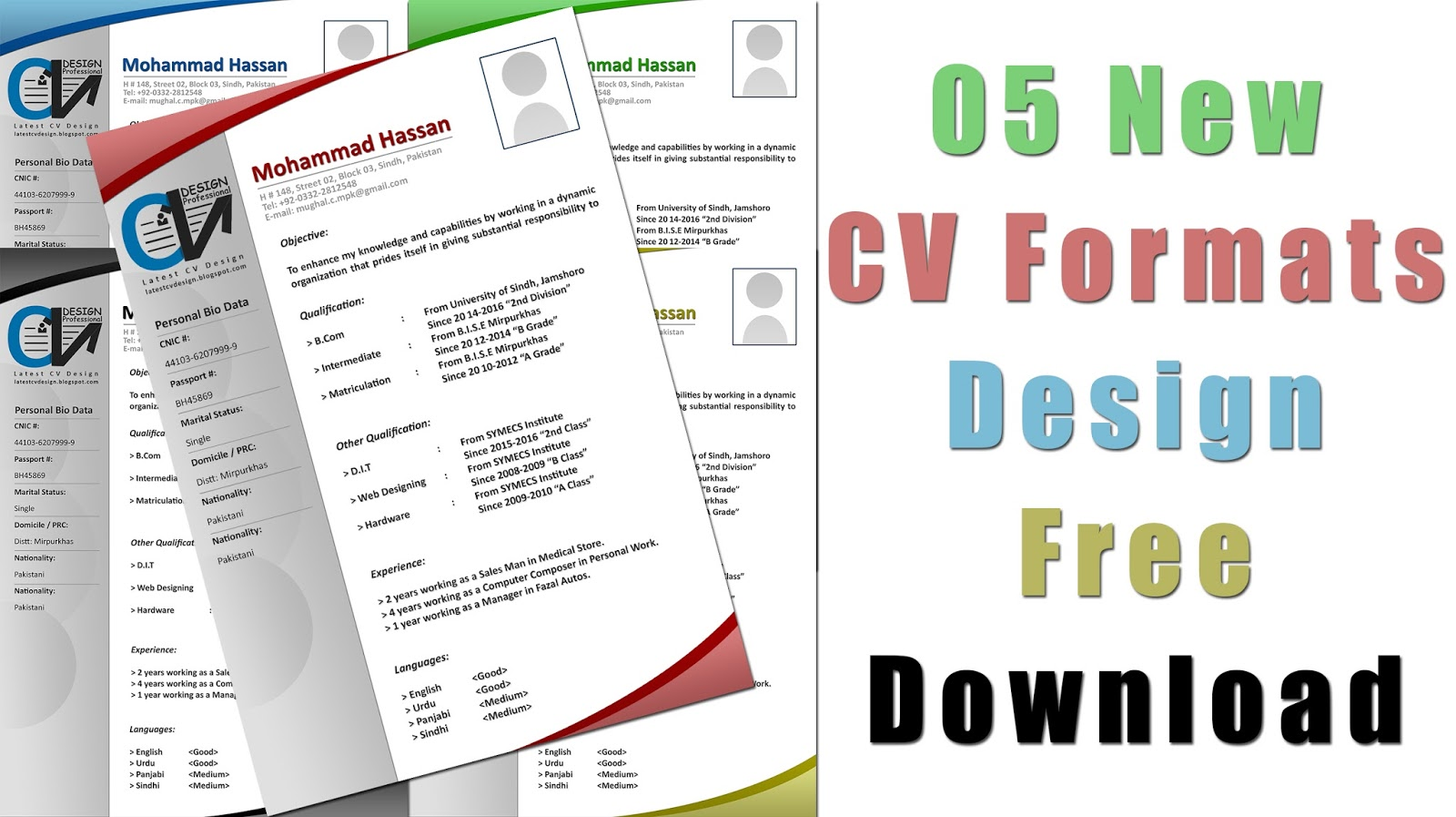 latest cv design  latest cv formats free download  latest