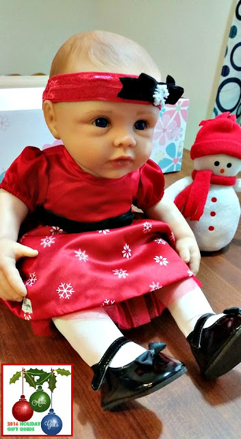 doll accessories, holiday dresses for dolls, baby doll Christmas set