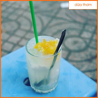 Pha chế đồ uống - Cách làm nước dừa thơm