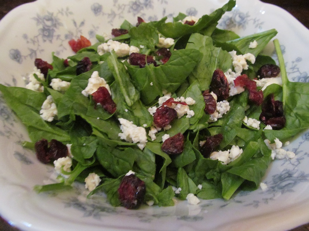 LL Farm Spinach Salad with Lime Dressing