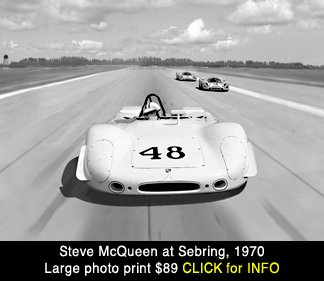 Steve McQueen Porsche 908 at Sebring 1970 large photo print for sale