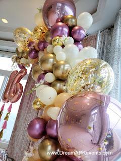Rose Gold Confetti Balloon Garland