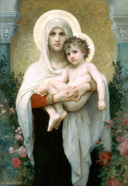 Адольф Вильям Бугро - Мадонна с розами (1903)