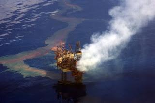 oil spill, oil rig, offshore oil platform