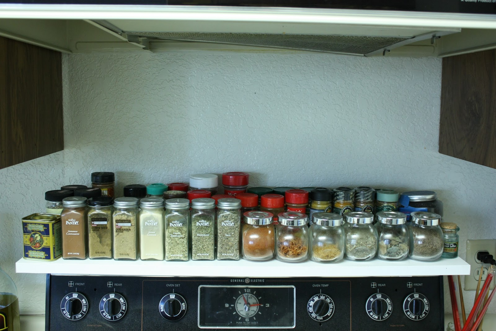 Spice Rack Over Stove. DIY! Above Stove Shelf All