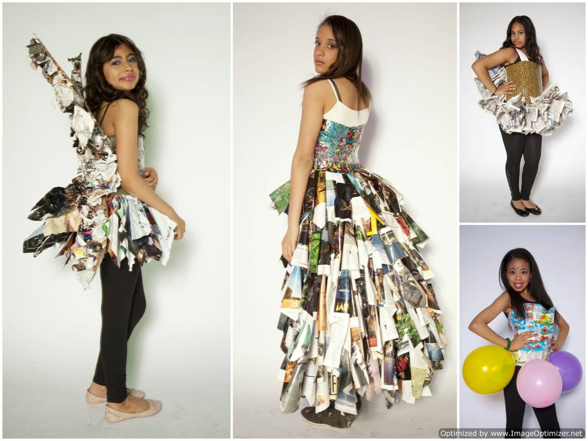 clothes made from trash