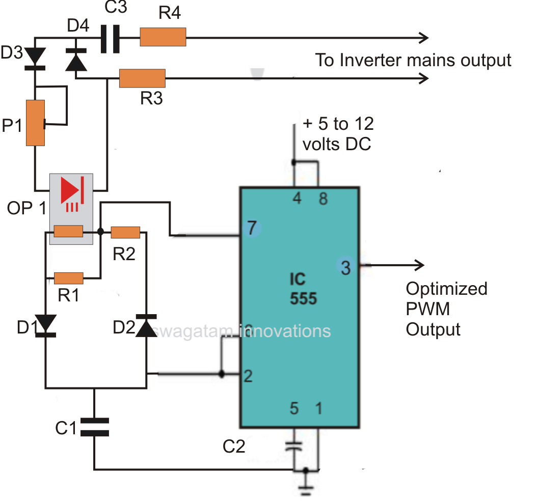 home ups inverter wiring diagram led light with relay load independent output corrected circuit