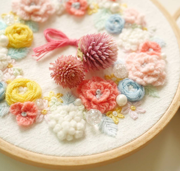 Insta Love – Flower Embroidery