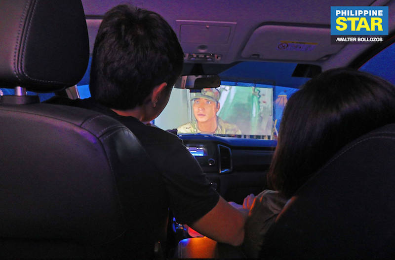 View from inside the vehicle (photo courtesy of Philippine Star)