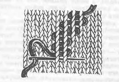 как вышивать стежком змейка