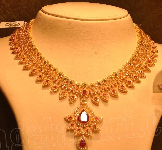 Uncut Diamond Necklace - Jewellery Designs