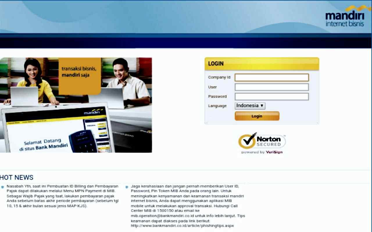 Login Internet Banking Mandiri Bisnis Yang aman Seperti