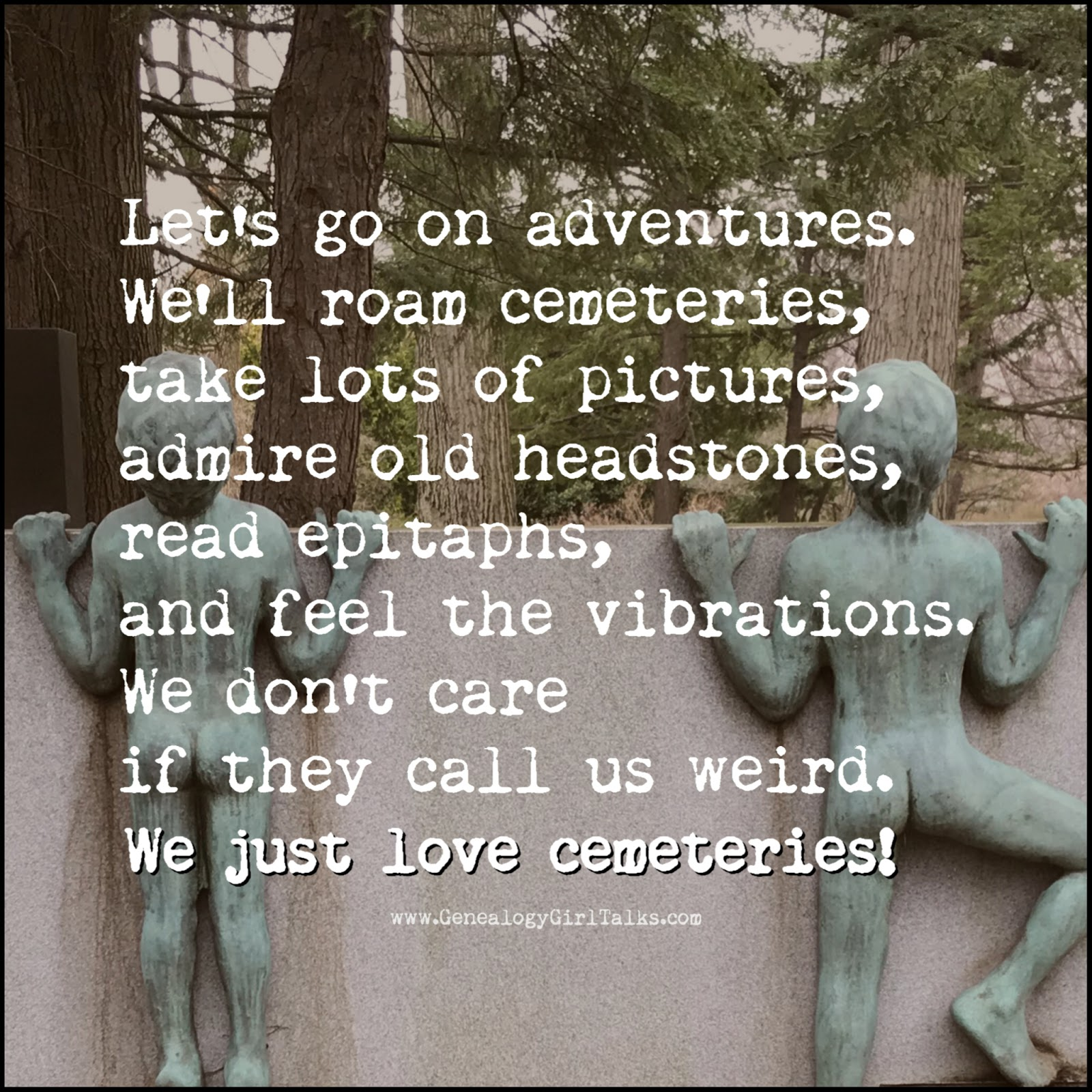 adventures (Poetry by M.Dickerson) - Genealogy Girl Talks