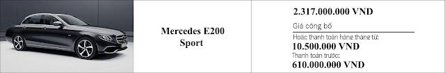 Giá xe Mercedes E200 Sport 2019 tại thị trường Việt Nam