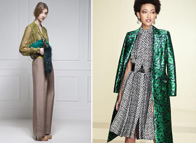 Сочетание синего и зеленого, лимонного и изумрудного в одежде