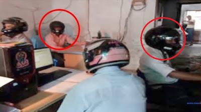 Karyawan di Kantor Ini Wajib Pakai Helm Saat Bekerja, Alasannya Bikin Sedih!!