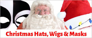 Christmas Hat, Wigs and Masks