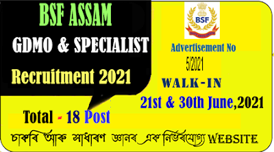 BSF Hospital Patgaon Guwahati Specialists Doctor Recruitment