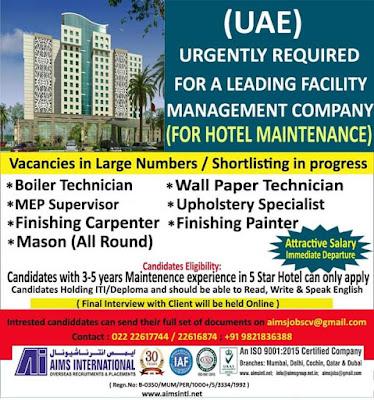 UAE Hotel Maintenance Opportunities