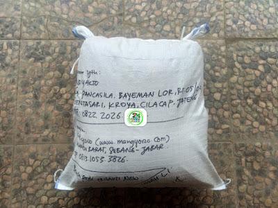 Benih padi TRISAKTI NEW 20 Kg atau 4 Sak  Pesanan SUBIYAKTO Cilacap, Jateng.  (Sesudah Packing)