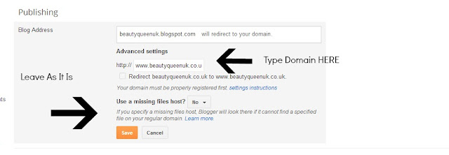 How to install your Domain Name on Blogger