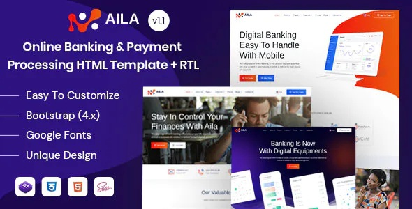 Best Online Banking & Payment HTML Template