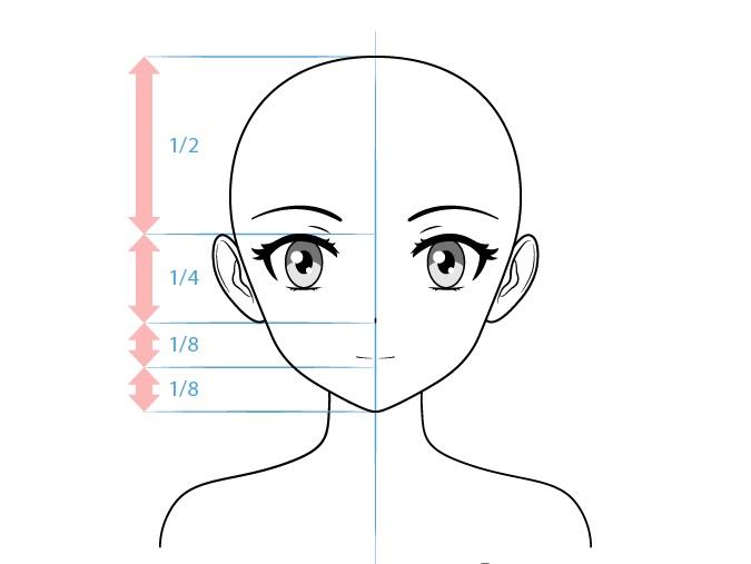 Anime gambar wajah karakter wanita pemalu