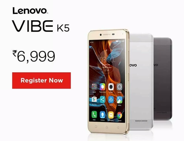 Lenovo Vibe K5 now official in India