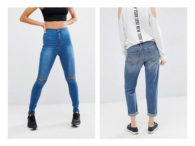 Девушки в джинсах с потертостями