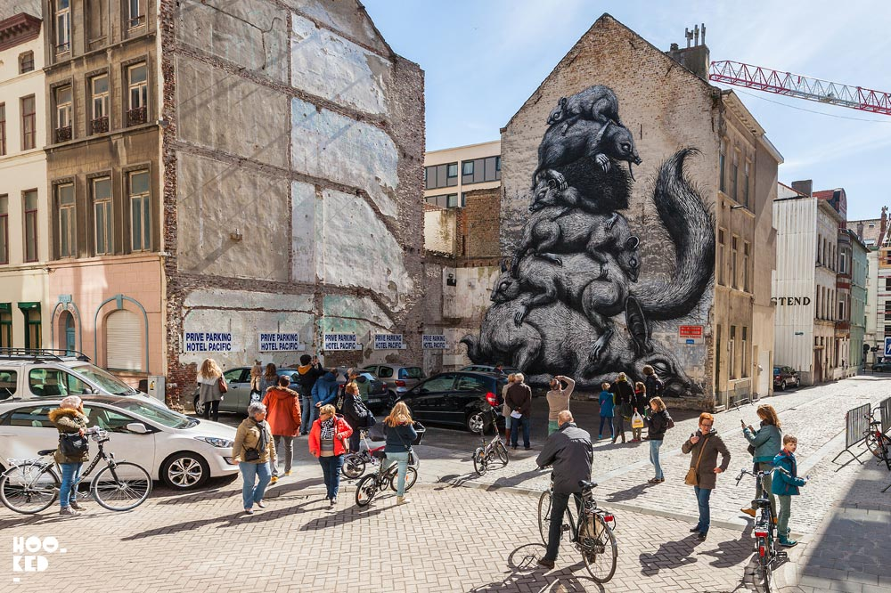 Ostend Street Art and where to find it. Roa Mural