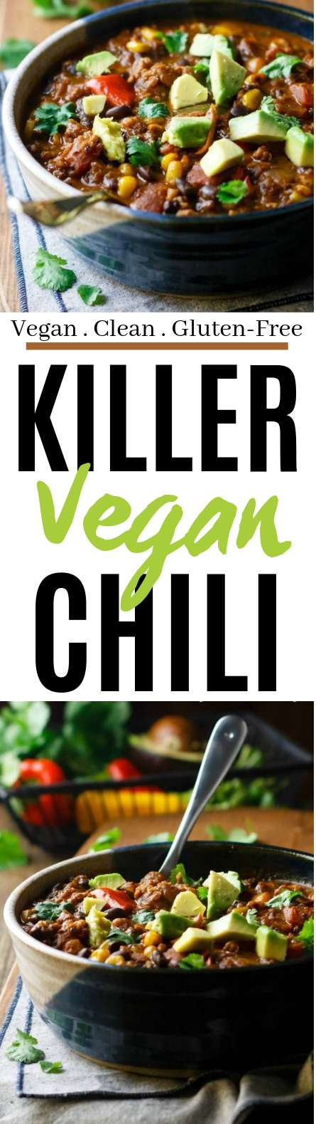 Killer Vegan Chili #vegan #dinner