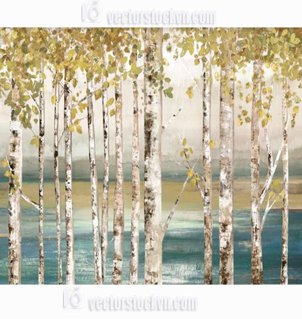 Vẽ tranh sơn dầu hàng cây.
