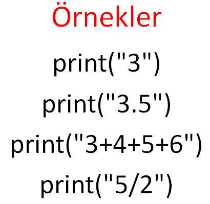 değerler ve değişkenler örnek-2