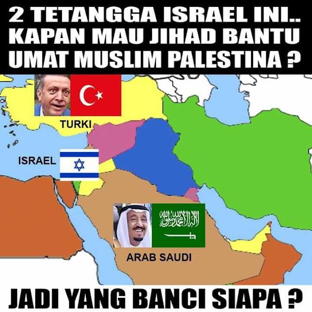 Turki dan Saudi Tetangga Dekat Israel, Kenapa Gak Berani Jihad?