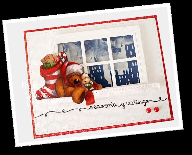 tarjeta navideña por Myriam Zapata