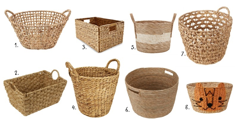 Kmart wicker baskets for toy storage
