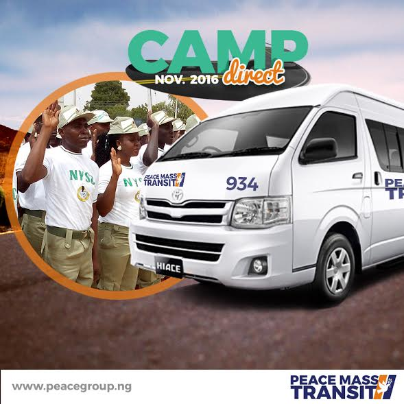 Travel with Peace Mass Transit to your orientation camp. Booking commences 15th Nov. 2016.